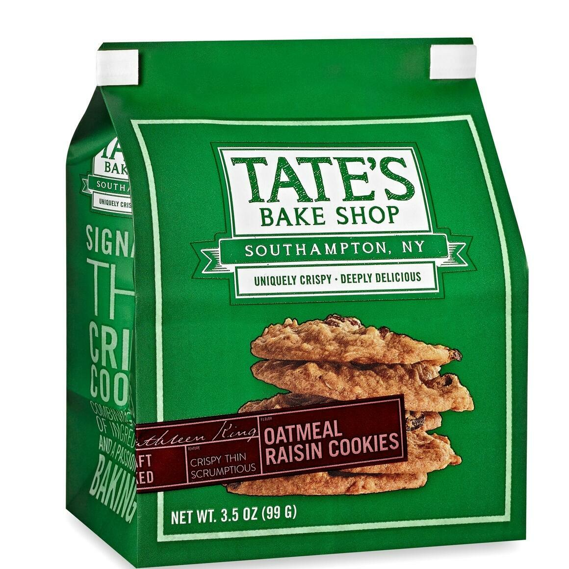 Tate's Bake Shop Oatmeal Raisin Cookies 3.5oz (12ct) | Trada Marketplace
