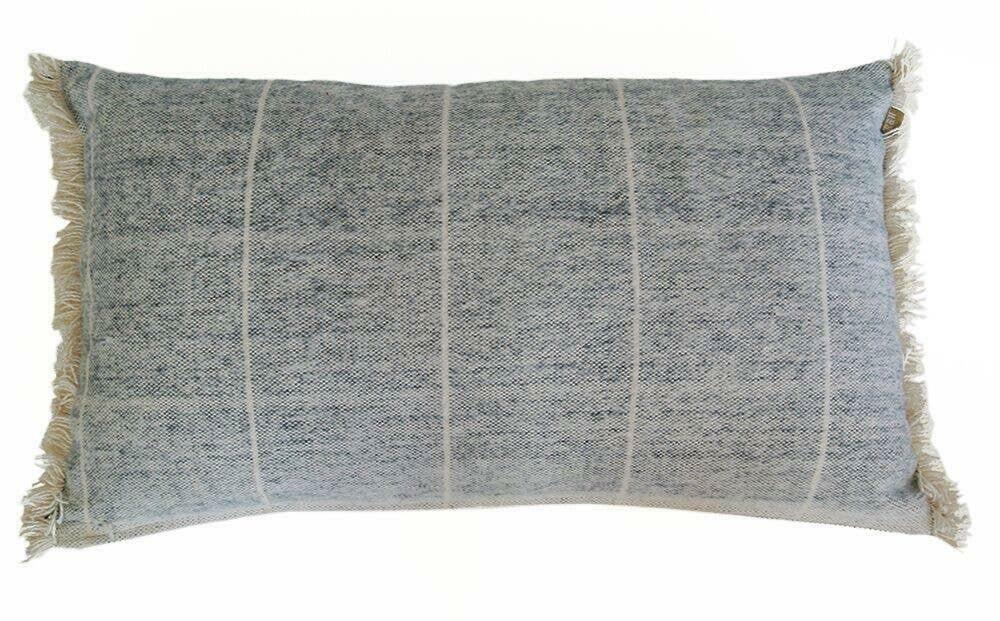 Brushed Wild Stripe Navy Breakfast Pillow | Trada Marketplace