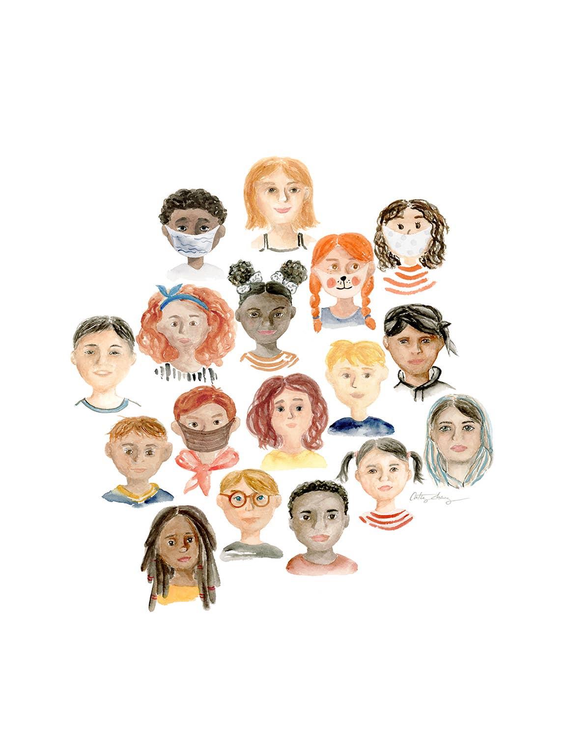 We Are One Human Race - Diversity Art Print | Trada Marketplace