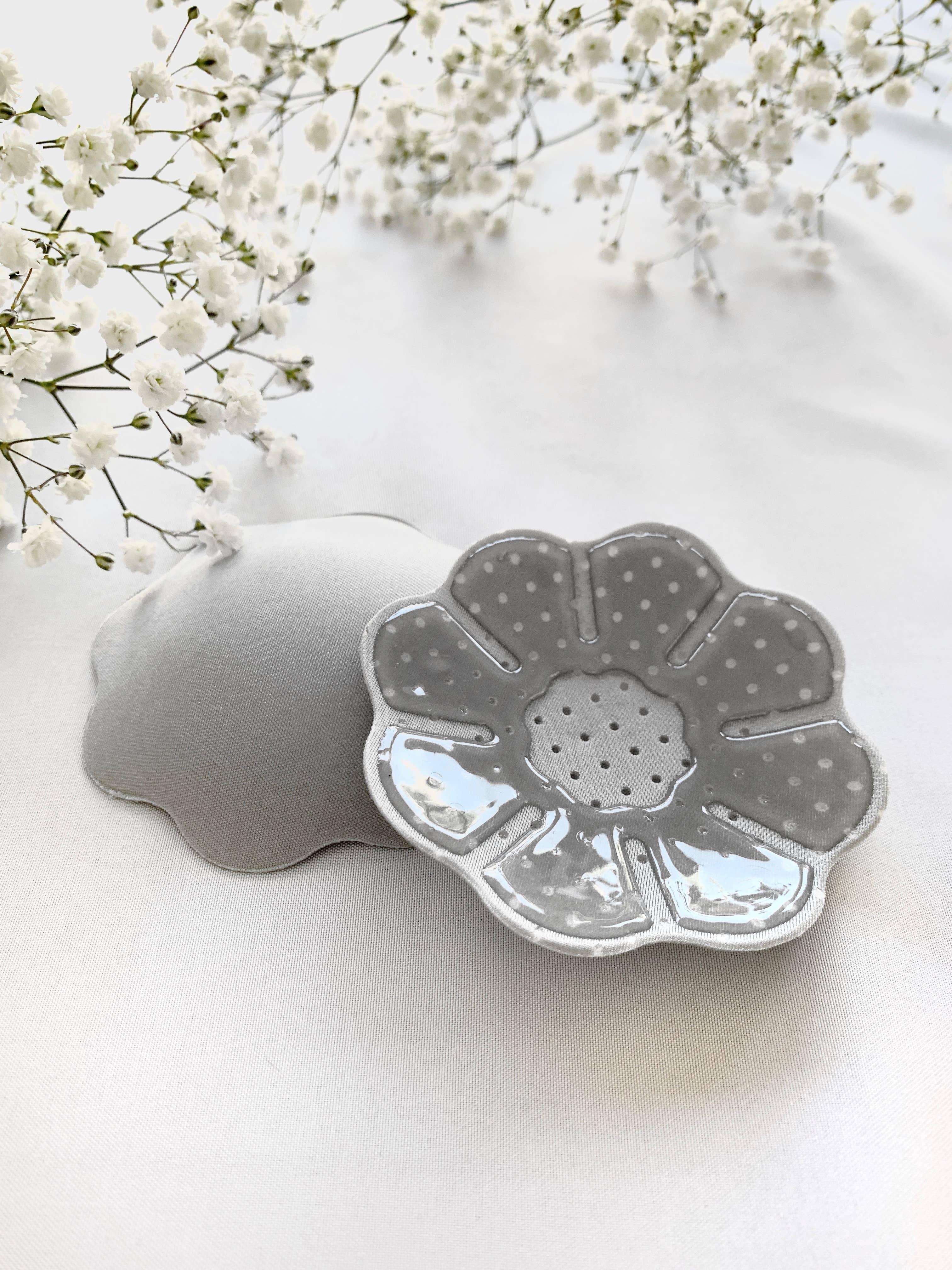 Flower Fabric Nipple Cover - Grey | Trada Marketplace