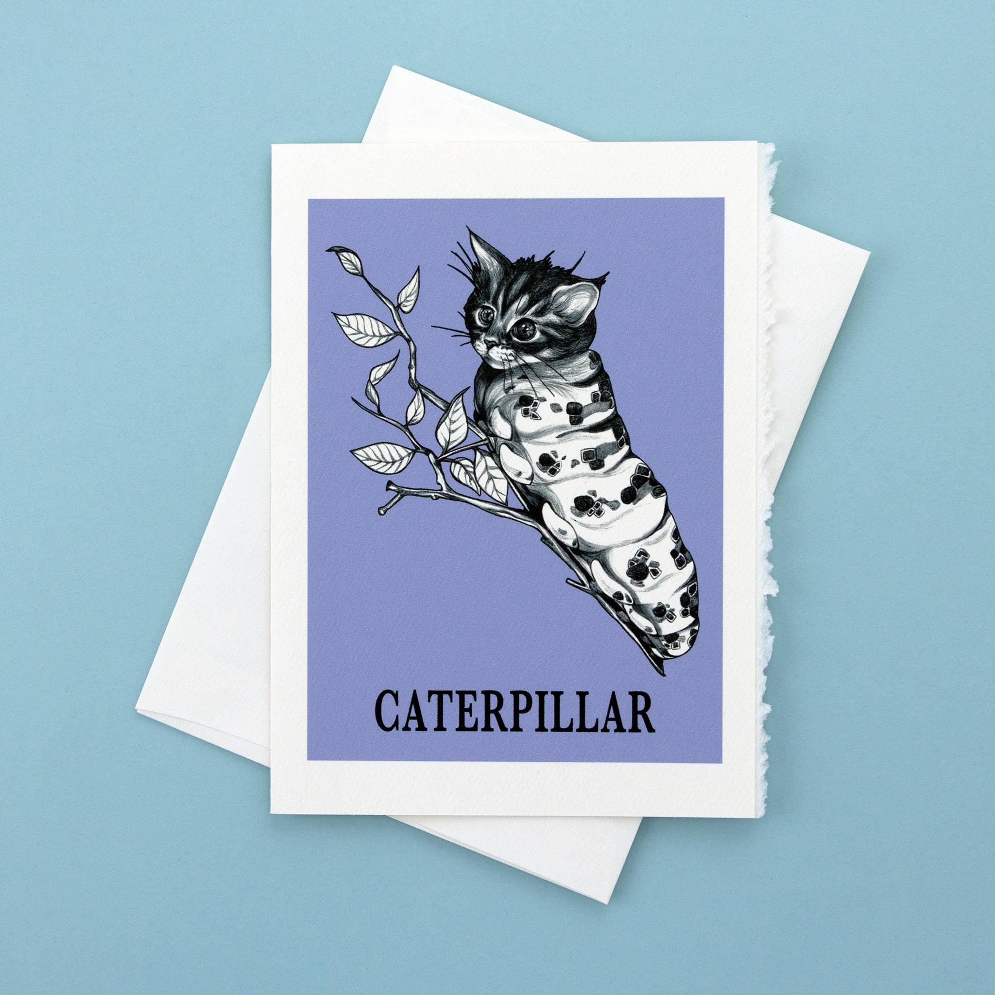 """Caterpillar 5x7"""" Greeting Card   Trada Marketplace"""