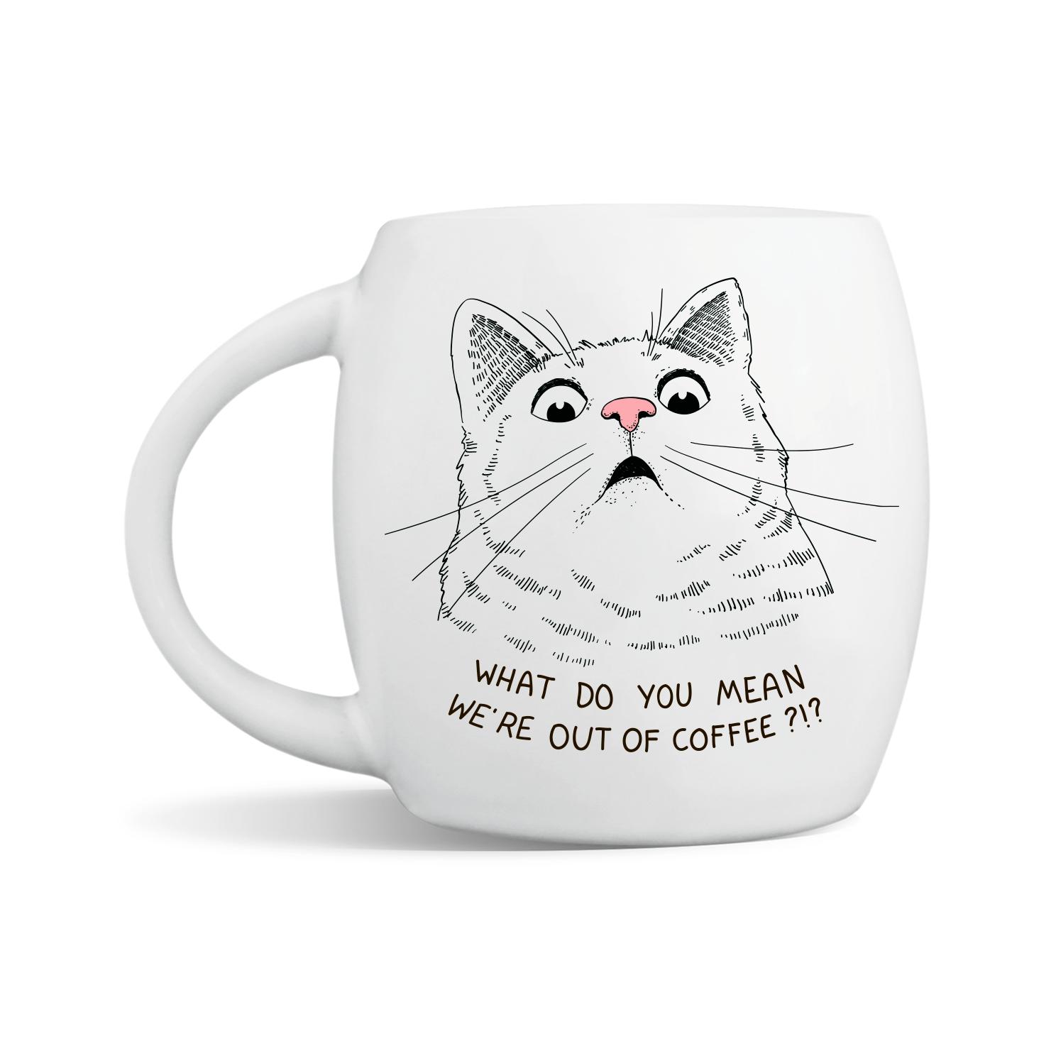Shocked Kitty Mug | Trada Marketplace