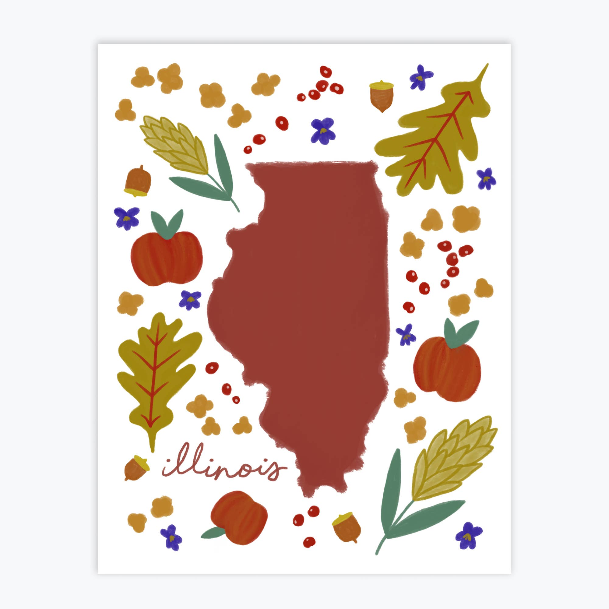 Illinois Fresh State - Art Print   Trada Marketplace