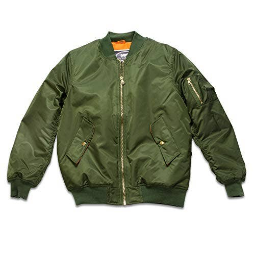 Adult MA-1 Flight Jacket Green Blank (with no patches)   Trada Marketplace