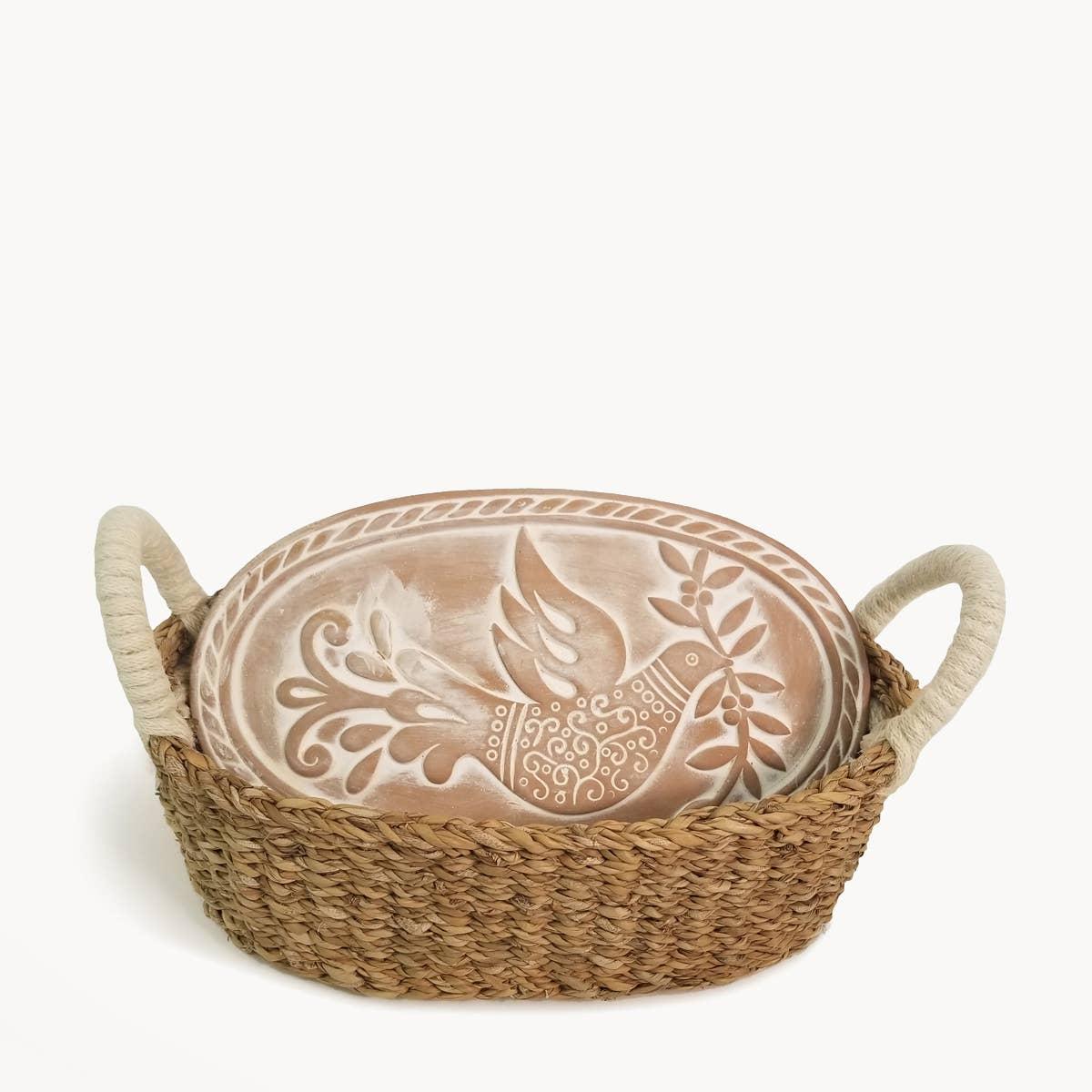 Bread Warmer & Basket - Bird Oval | Trada Marketplace