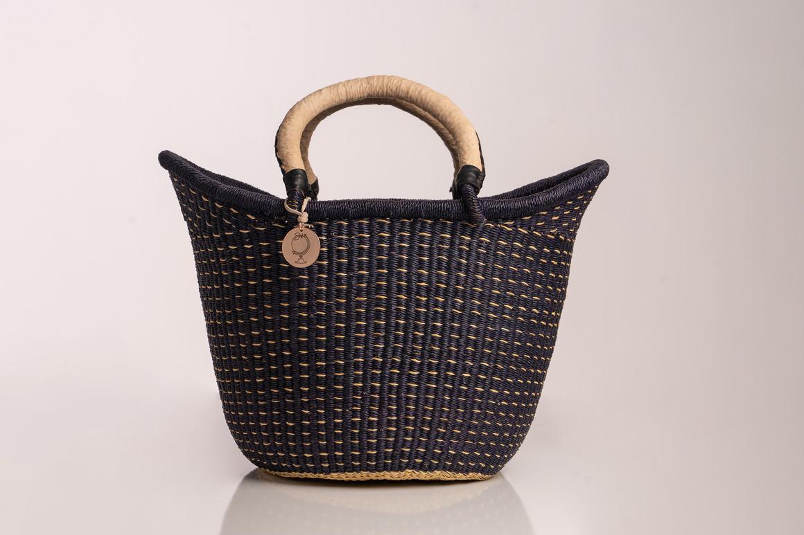 Sonder & H - The Victoria Basket - Style No. 4 Dashed Black | Trada Marketplace