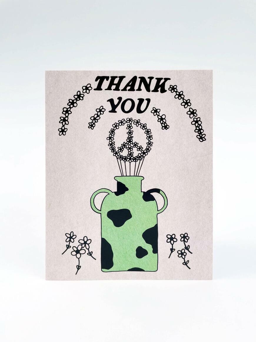 Thank You / Peace Vase   Greeting Card   Trada Marketplace