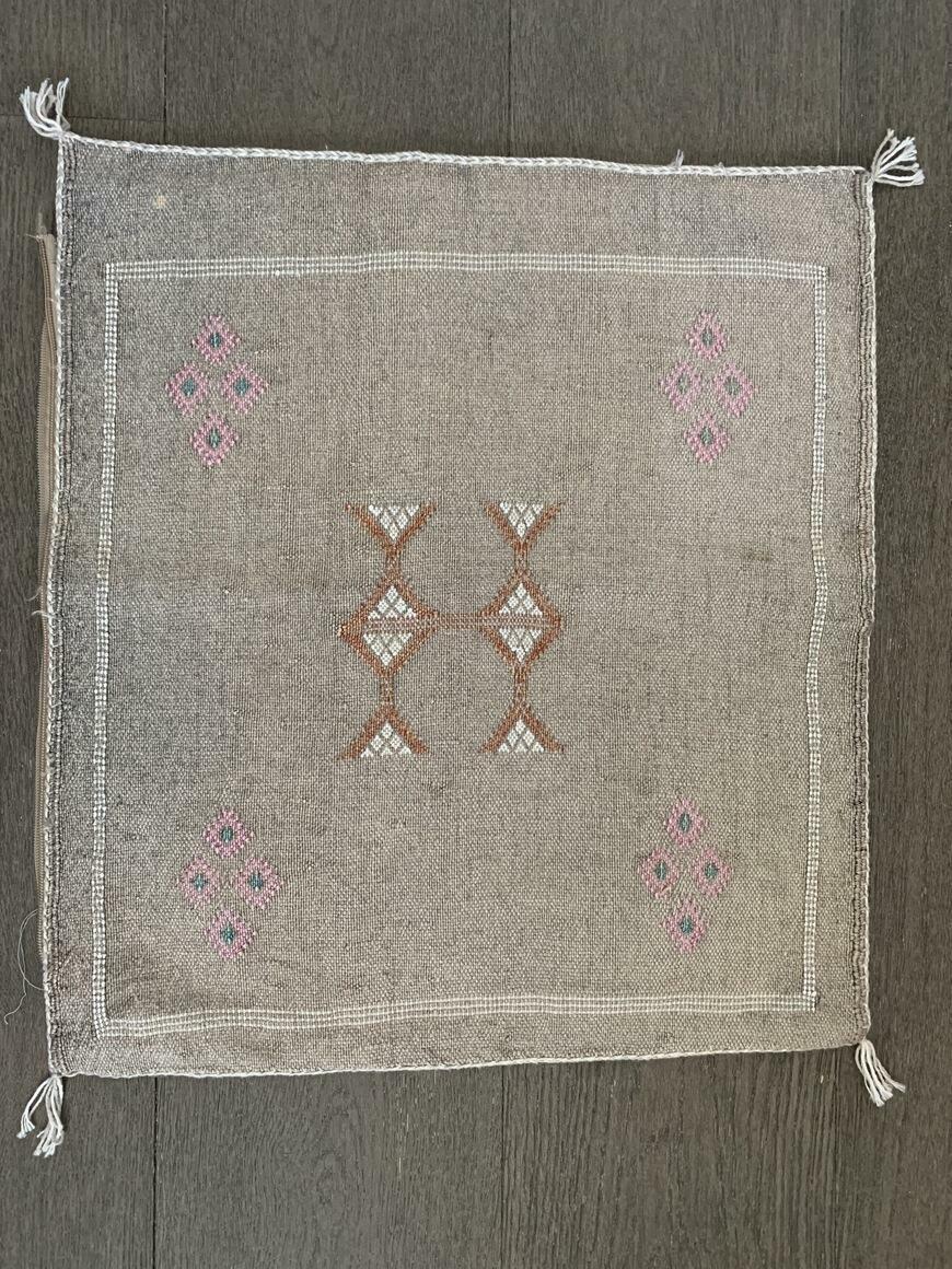 Handmade Moroccan cactus silk pillow covers, 20x20 inch   Trada Marketplace