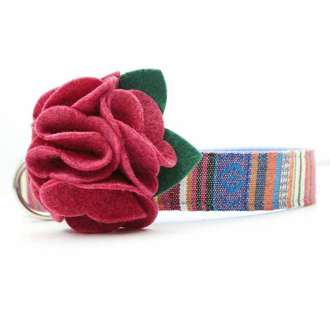 Dog Collar Hydrangea Flower - Ruby Pink   Trada Marketplace