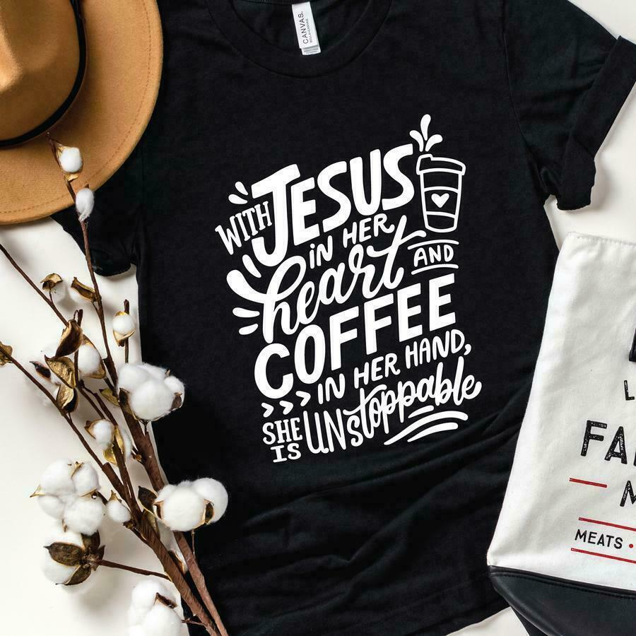 With Jesus In Her Heart Graphic Tee | Trada Marketplace