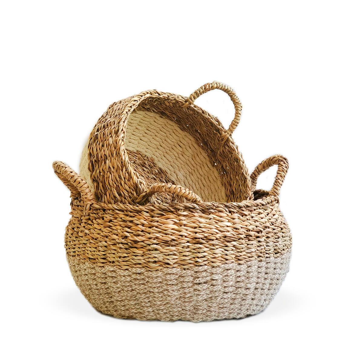 Ula Floor Basket - Natural (Set of 2)   Trada Marketplace