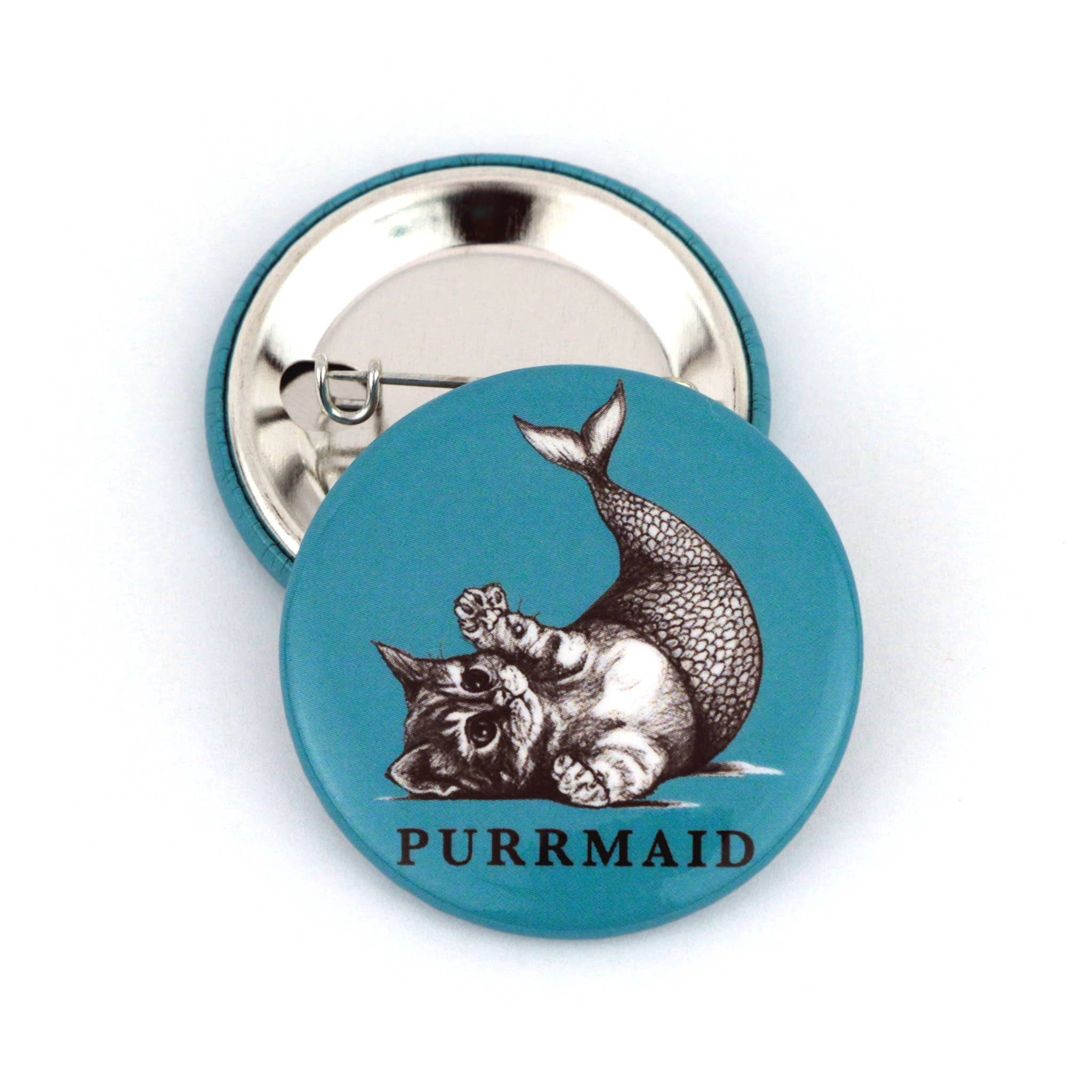 "Purrmaid 1.5"" Pinback Button   Trada Marketplace"