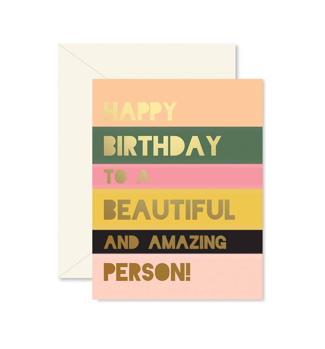Beautiful Person Colorblock Birthday   Trada Marketplace