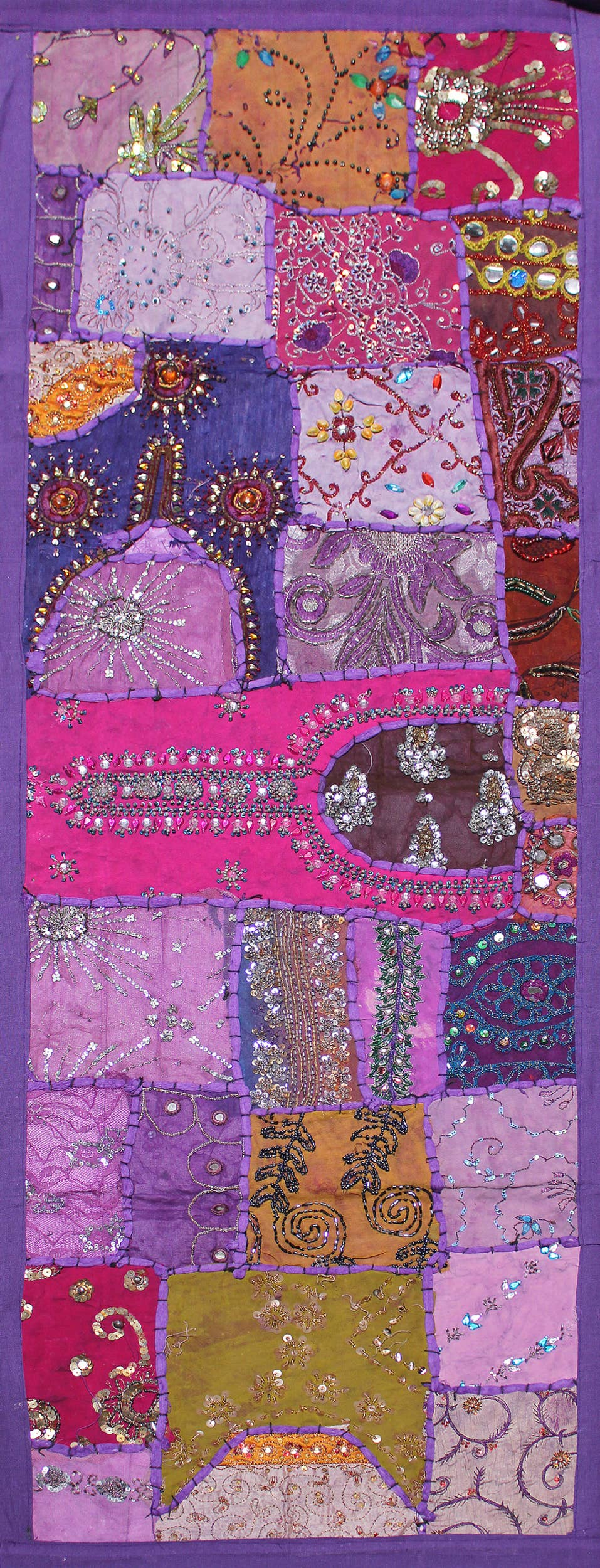 One of A Kind Vintage Hand Beaded Long Table Runner-045   Trada Marketplace