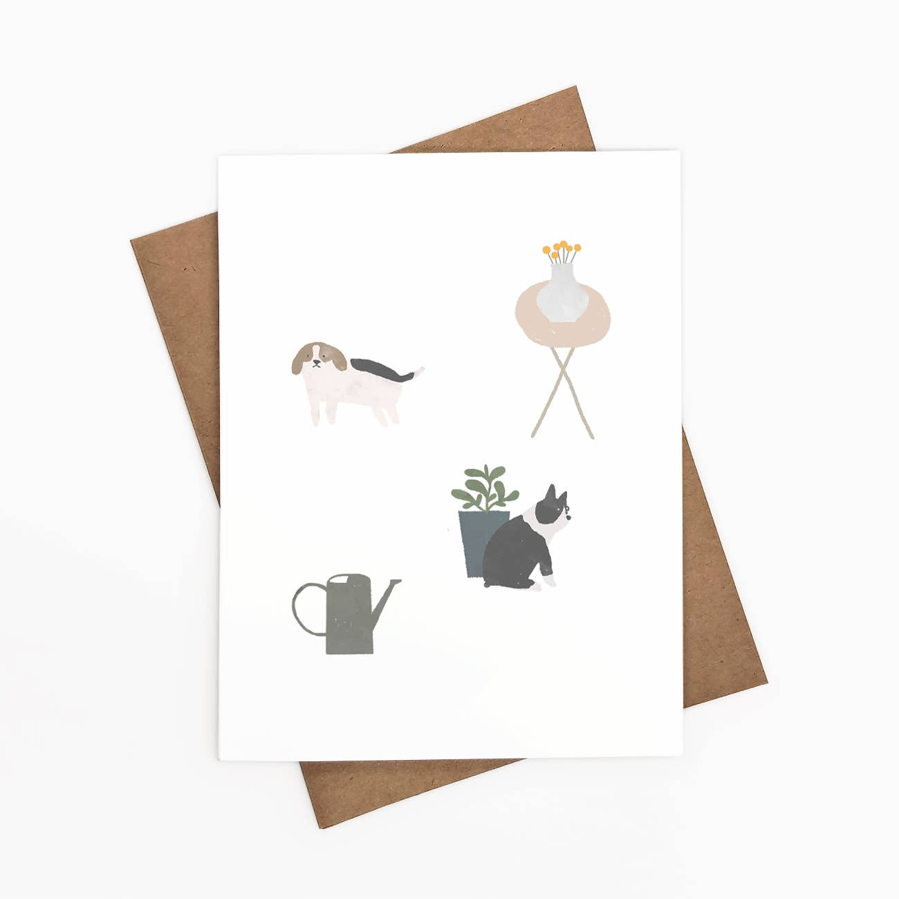Plants and Dogs Greeting Card   Trada Marketplace