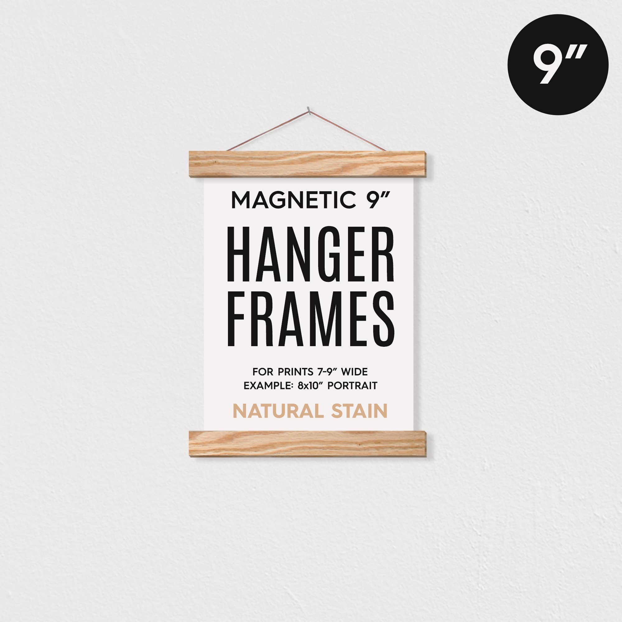 "9"" MAGNETIC Poster Hanger Frame for 8x10"" Portrait Prints   Trada Marketplace"