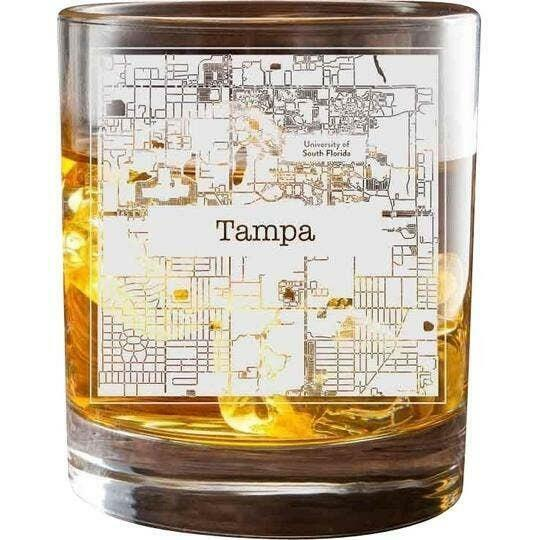 Tampa College Town Glasses (Set of 2)   Trada Marketplace