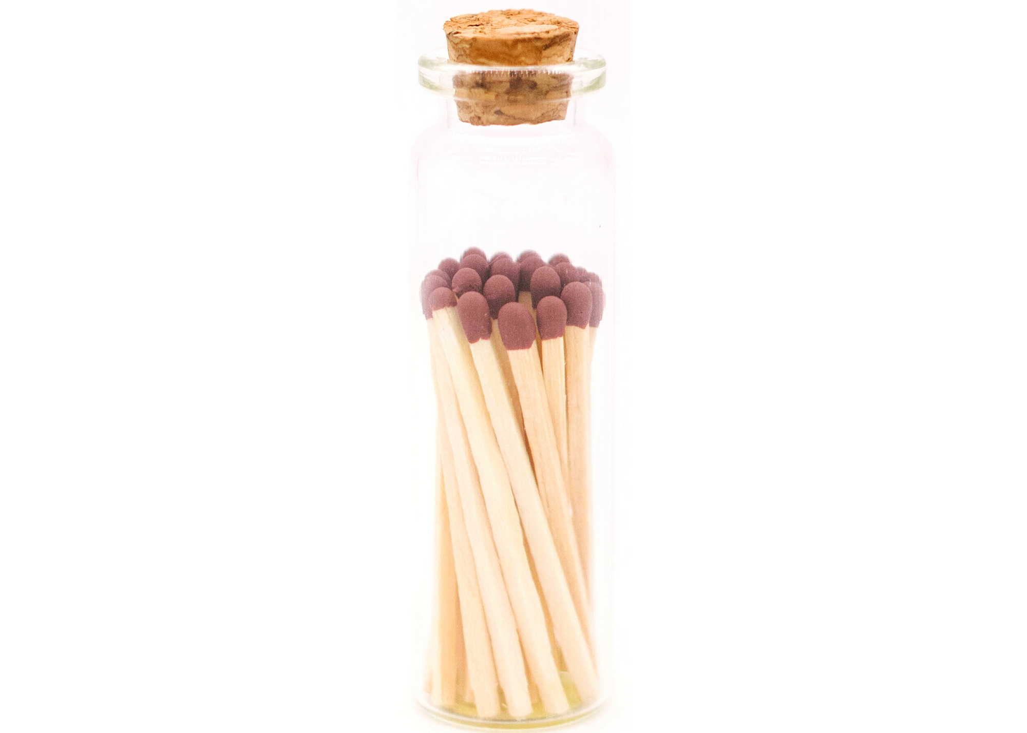 1.85in Mocha Brown Decorative Matches In Jar with strike   Trada Marketplace