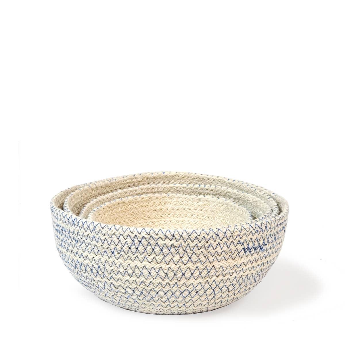 Amari Round Bowl - Blue (Set of 4)   Trada Marketplace