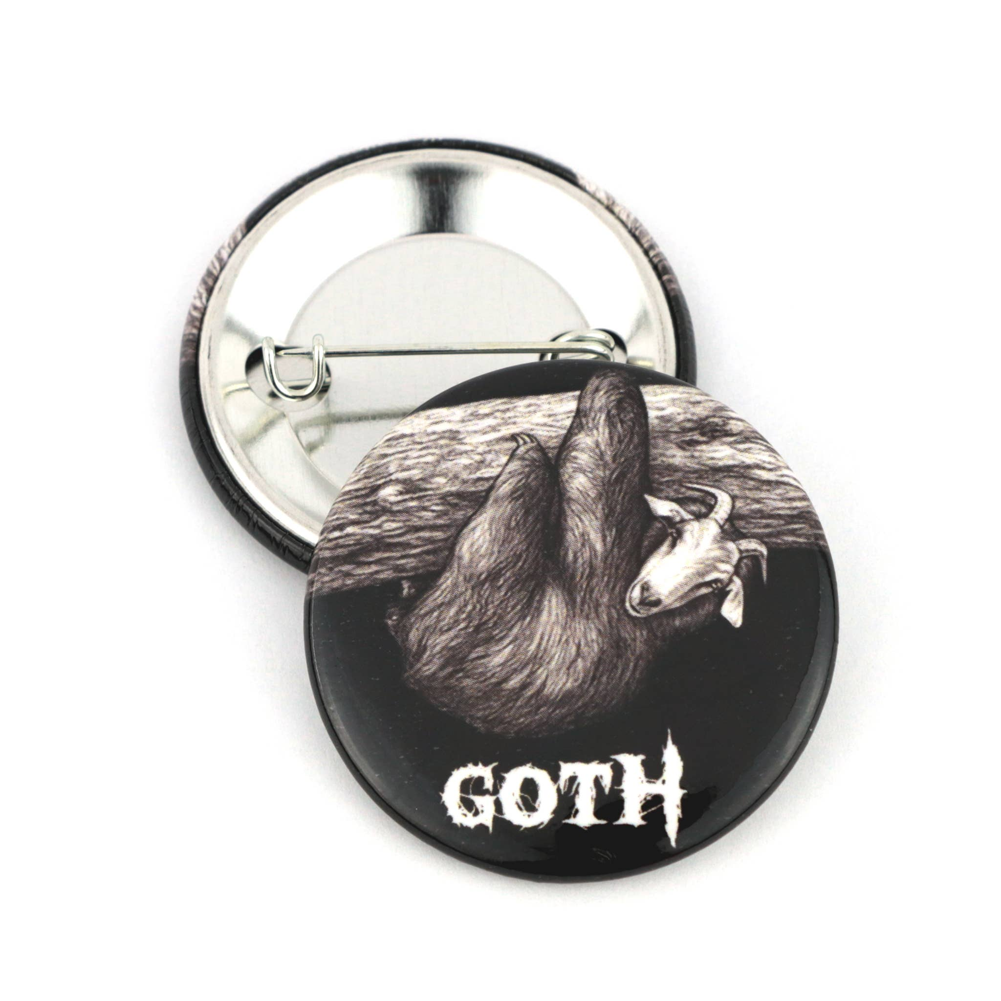 "Goth 1.5"" Pinback Button   Trada Marketplace"