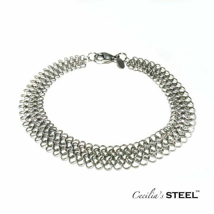 Steel Lace Anklet   Trada Marketplace