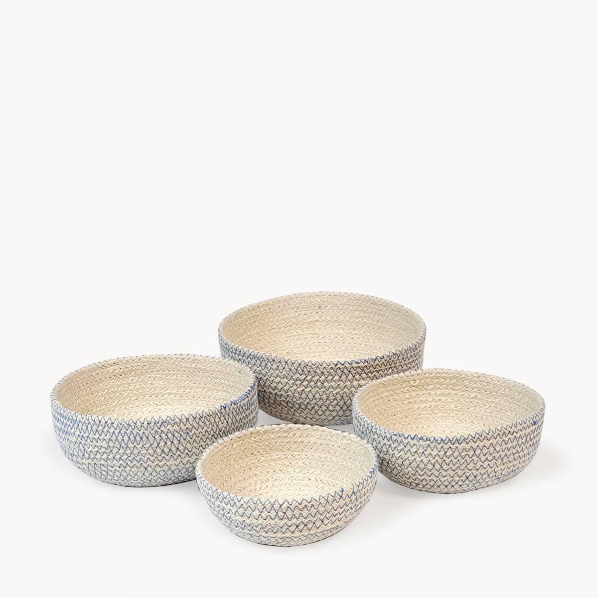 Amari Round Bowl - Blue (Set of 4) | Trada Marketplace