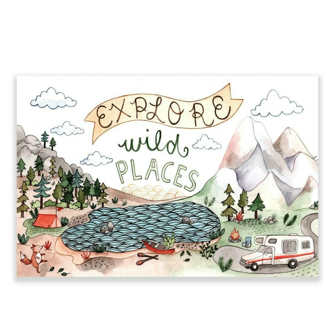 Explore Wild Places Sticker | Trada Marketplace