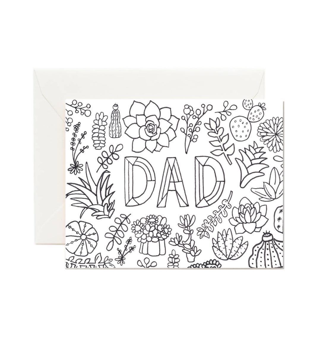 Dad Coloring Card   Trada Marketplace