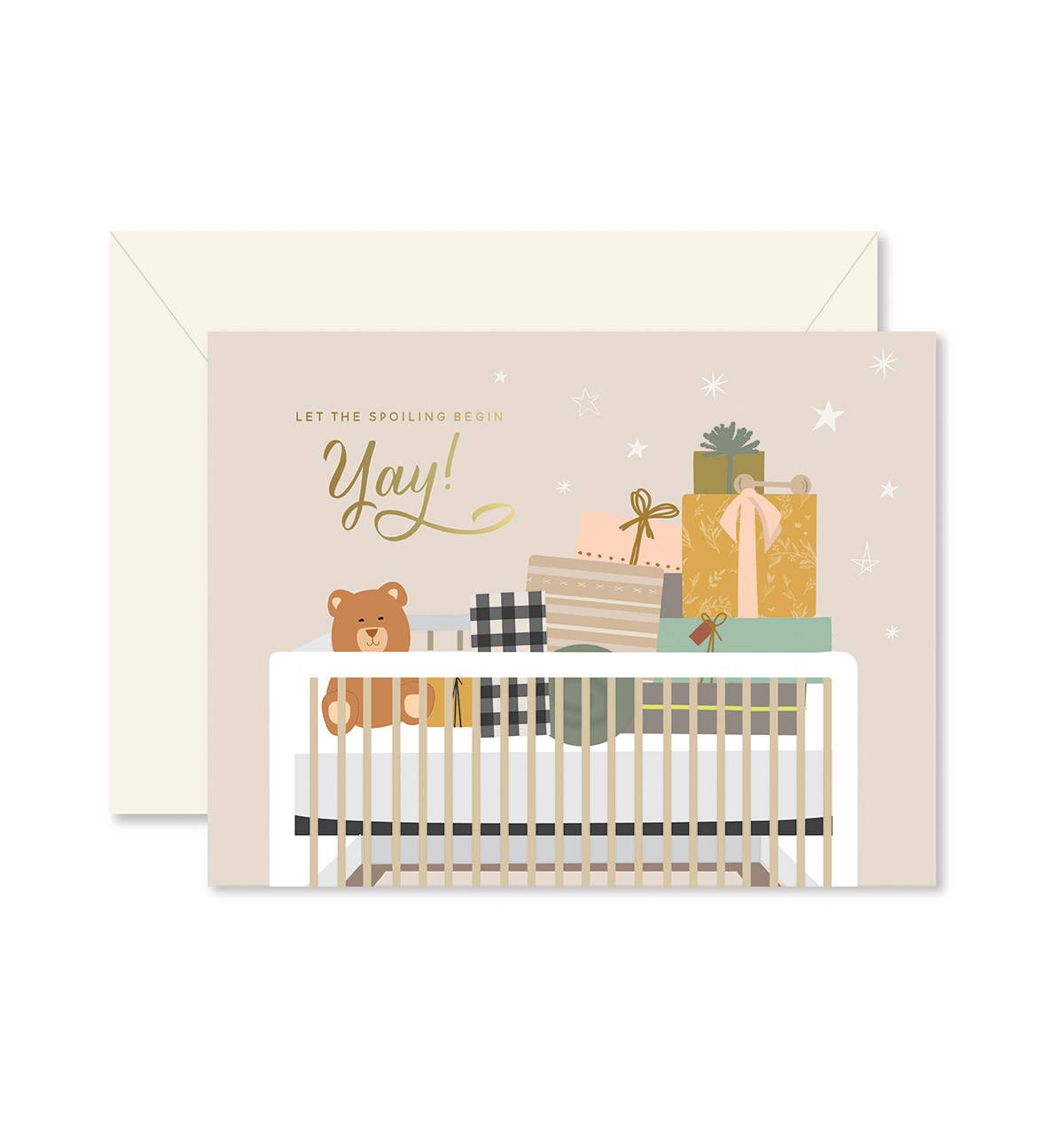 Spoiling Baby Greeting Card   Trada Marketplace