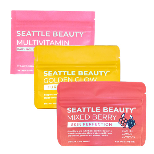All-Natural Beauty Gummies Sample Pack Seattle Beauty (3-Pack)    Trada Marketplace