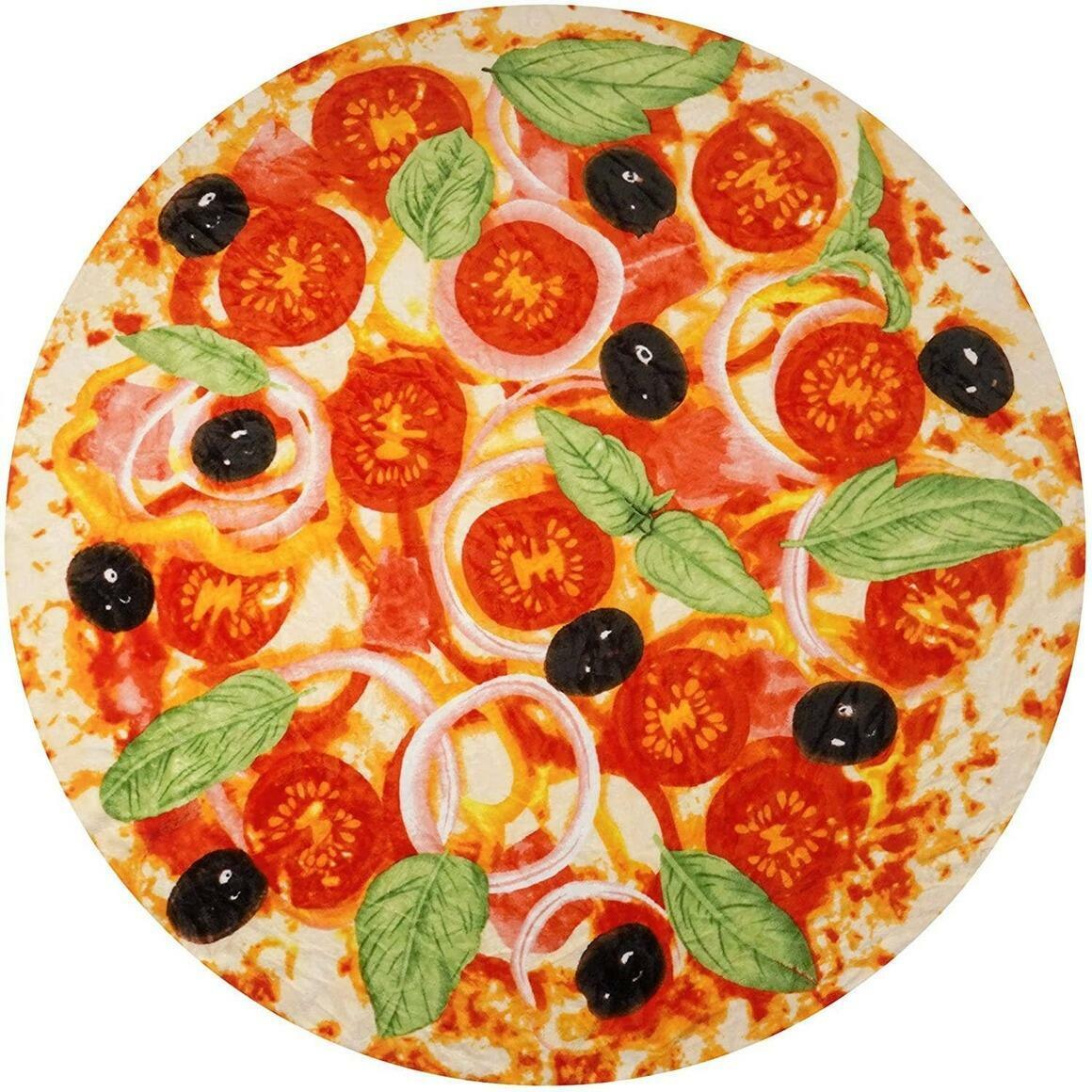 Giant Pizza Blanket - Novelty Big Pizza Blanket (60 Inch) | Trada Marketplace