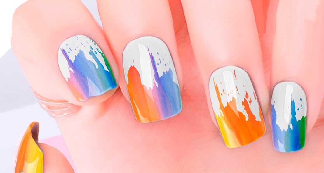 Paint Drip Nail Wraps | Trada Marketplace