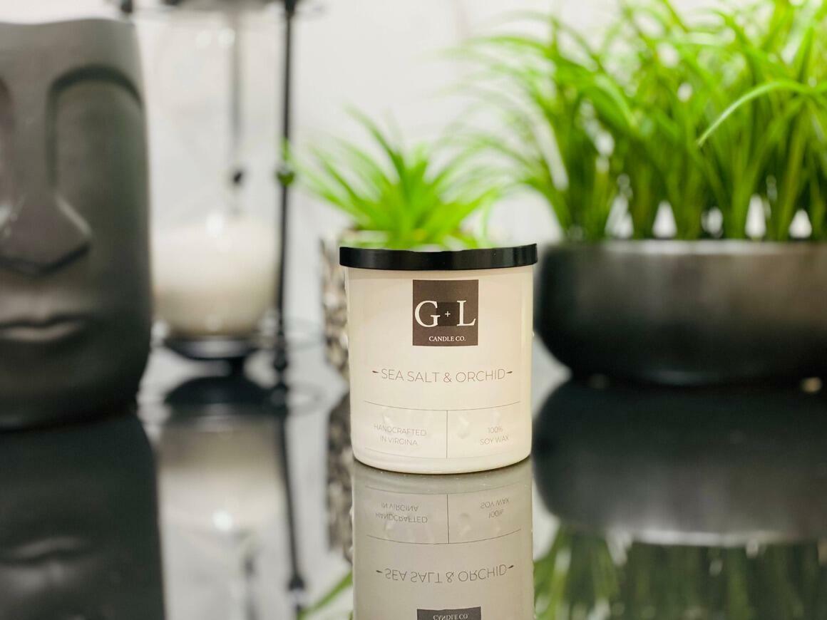 Sea Salt & Orchid - 8 oz. Candle   Trada Marketplace