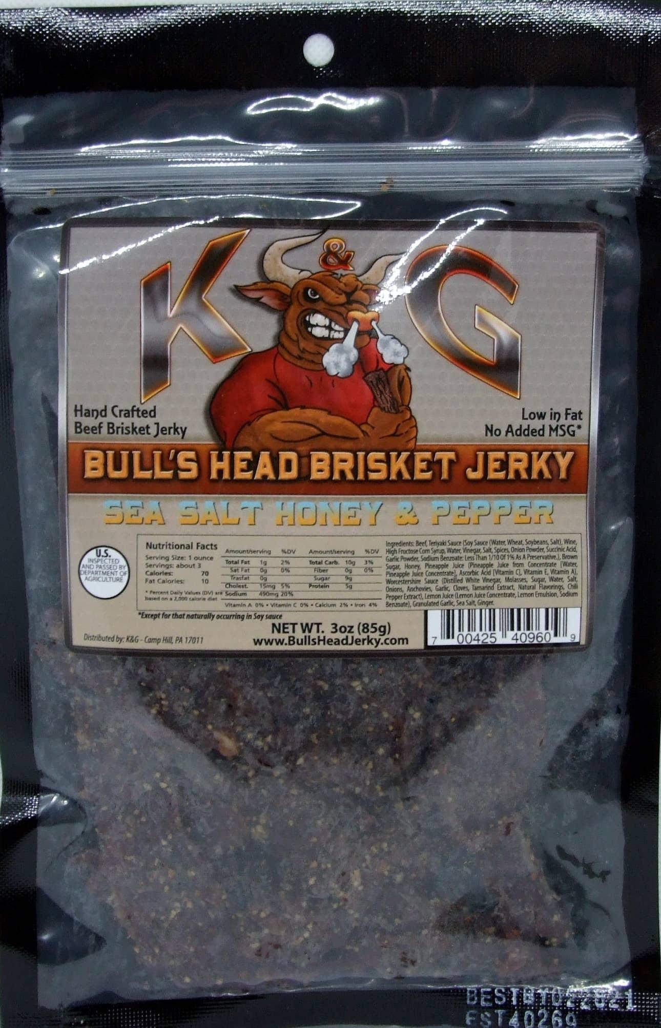 3 oz Sea Salt & Honey Pepper Brisket Beef Jerky | Trada Marketplace