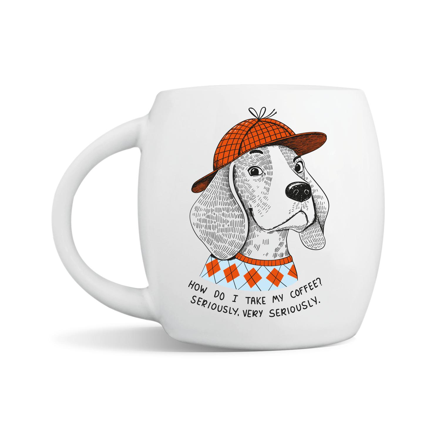 Serious Beagle Mug | Trada Marketplace