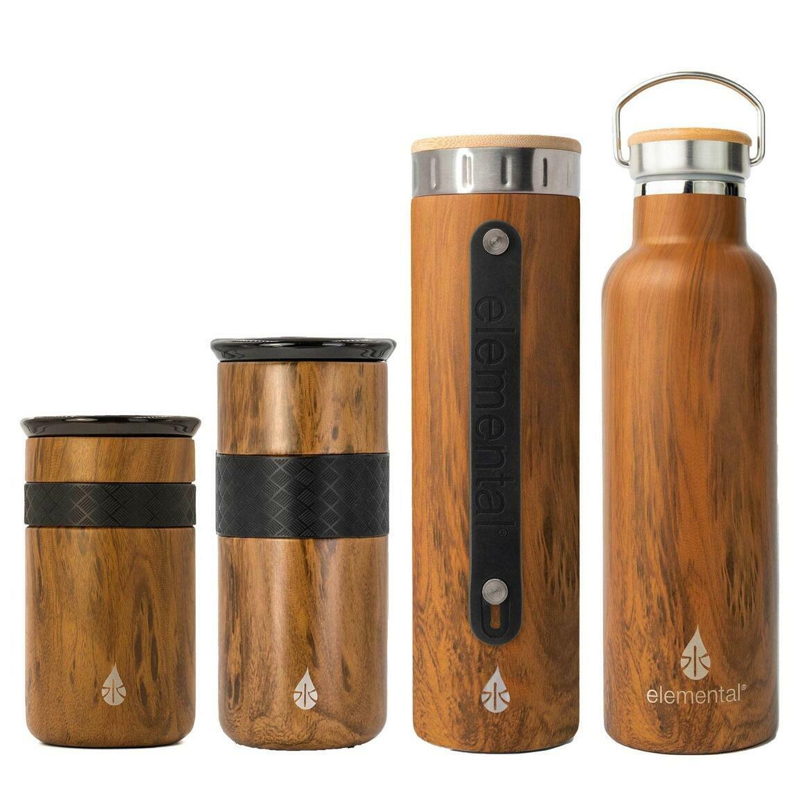 Sample Pack of Elemental Drinkware Products - Teak Wood   Trada Marketplace