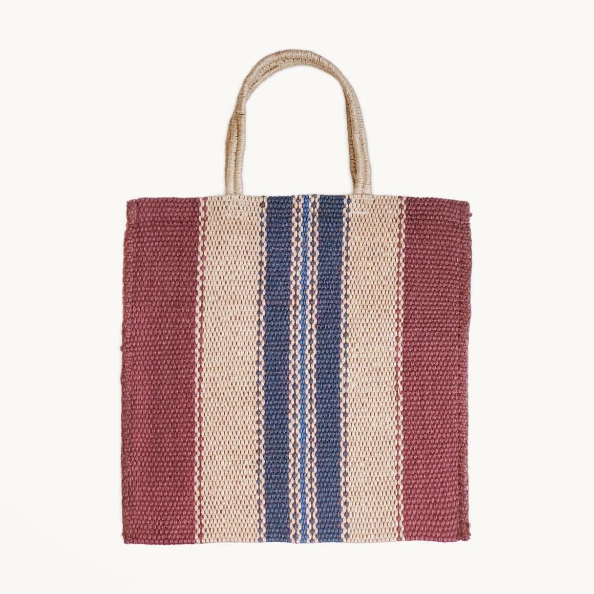 Dora Jute Tote Bag - Multi Brown | Trada Marketplace