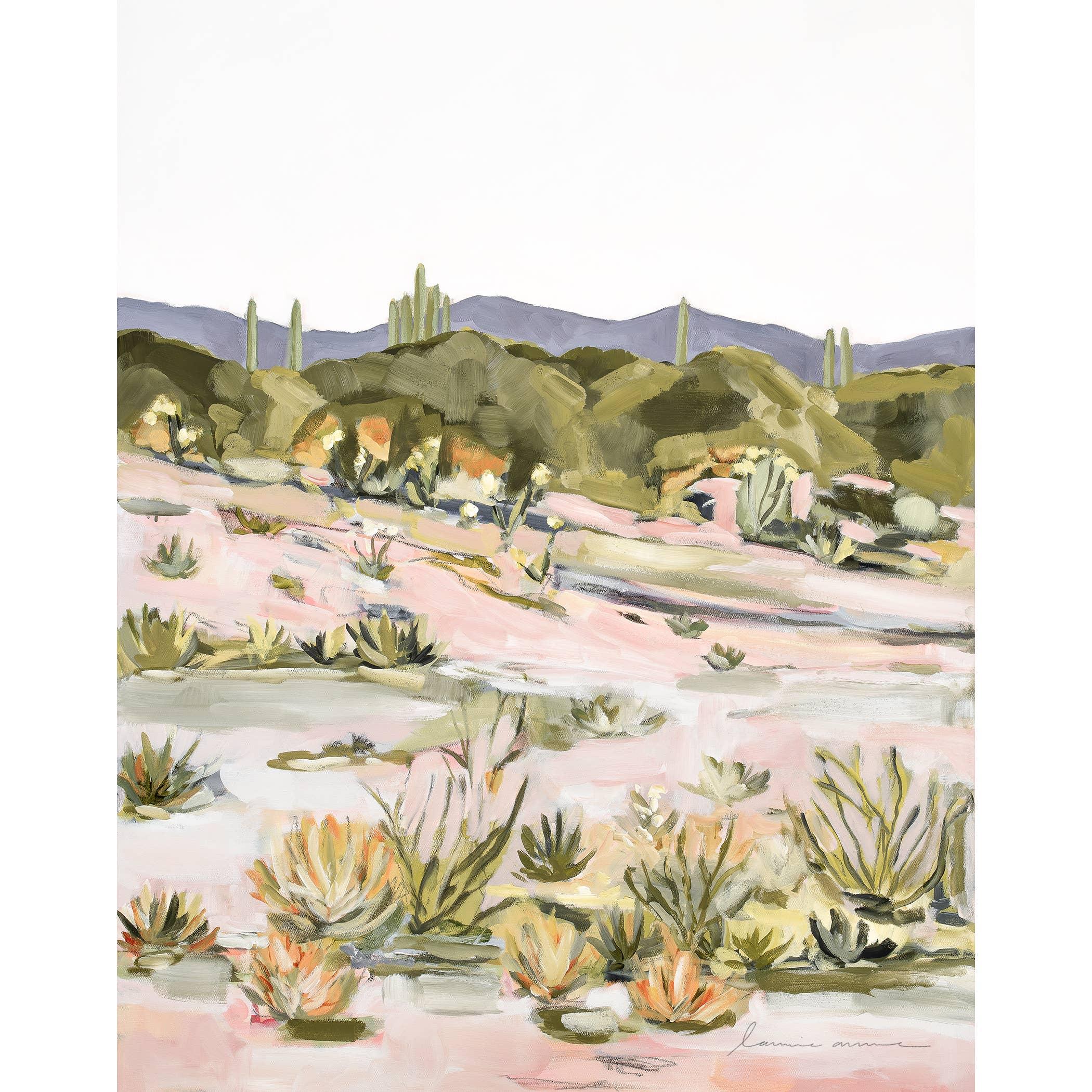 Desert Glory Vertical Canvas Print   Trada Marketplace