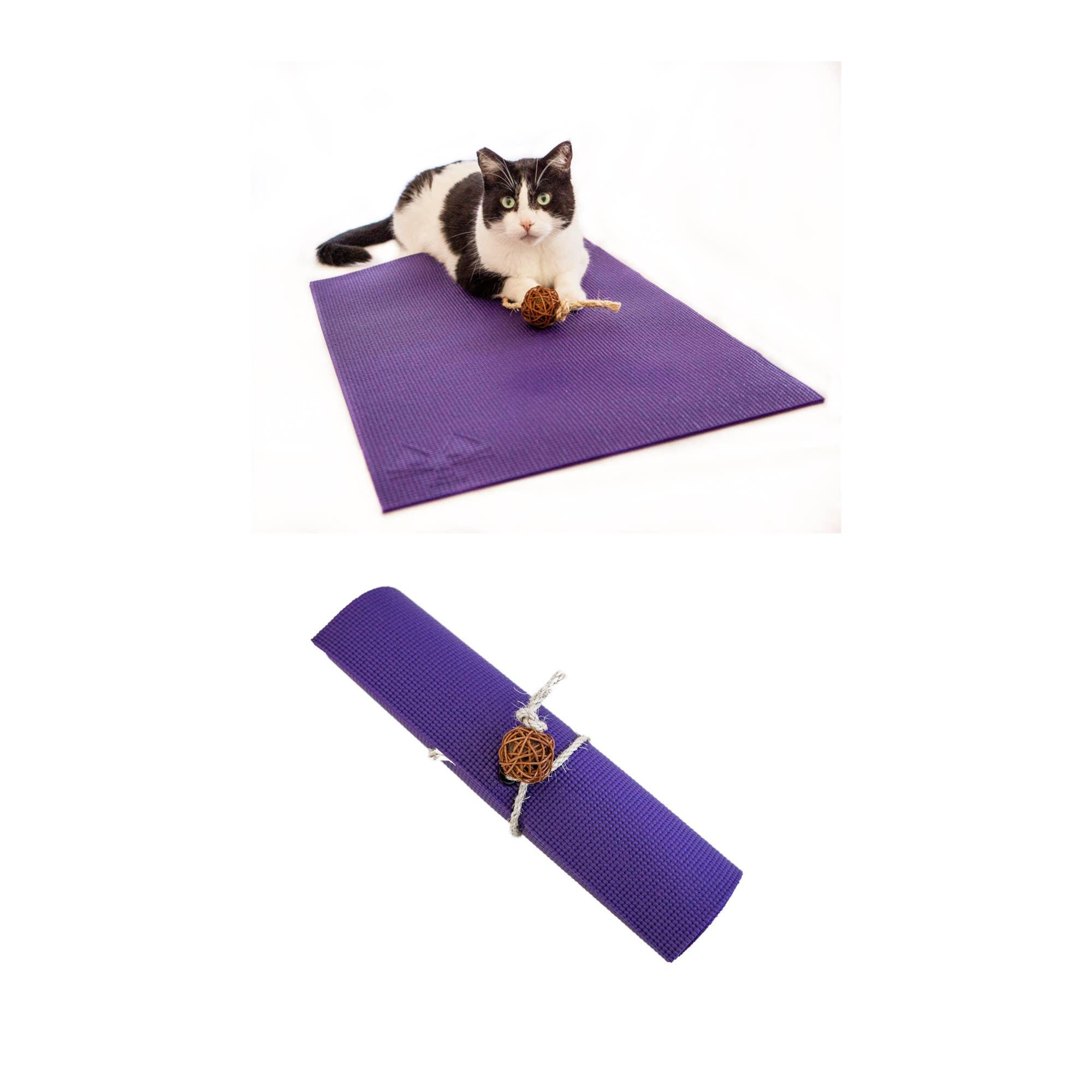 Purple Yoga Cat Mat   Trada Marketplace