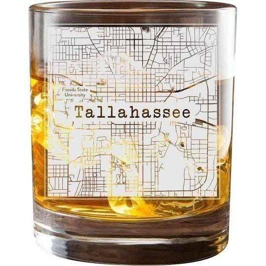Tallahassee College Town Glasses (Set of 2)   Trada Marketplace