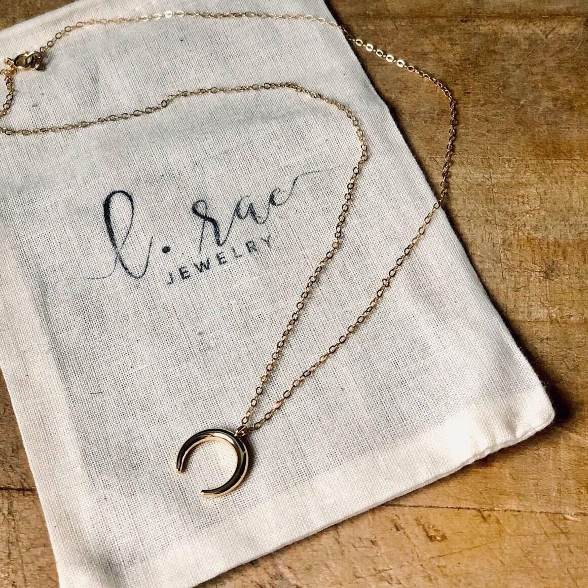Crescent Horn Necklace   Trada Marketplace