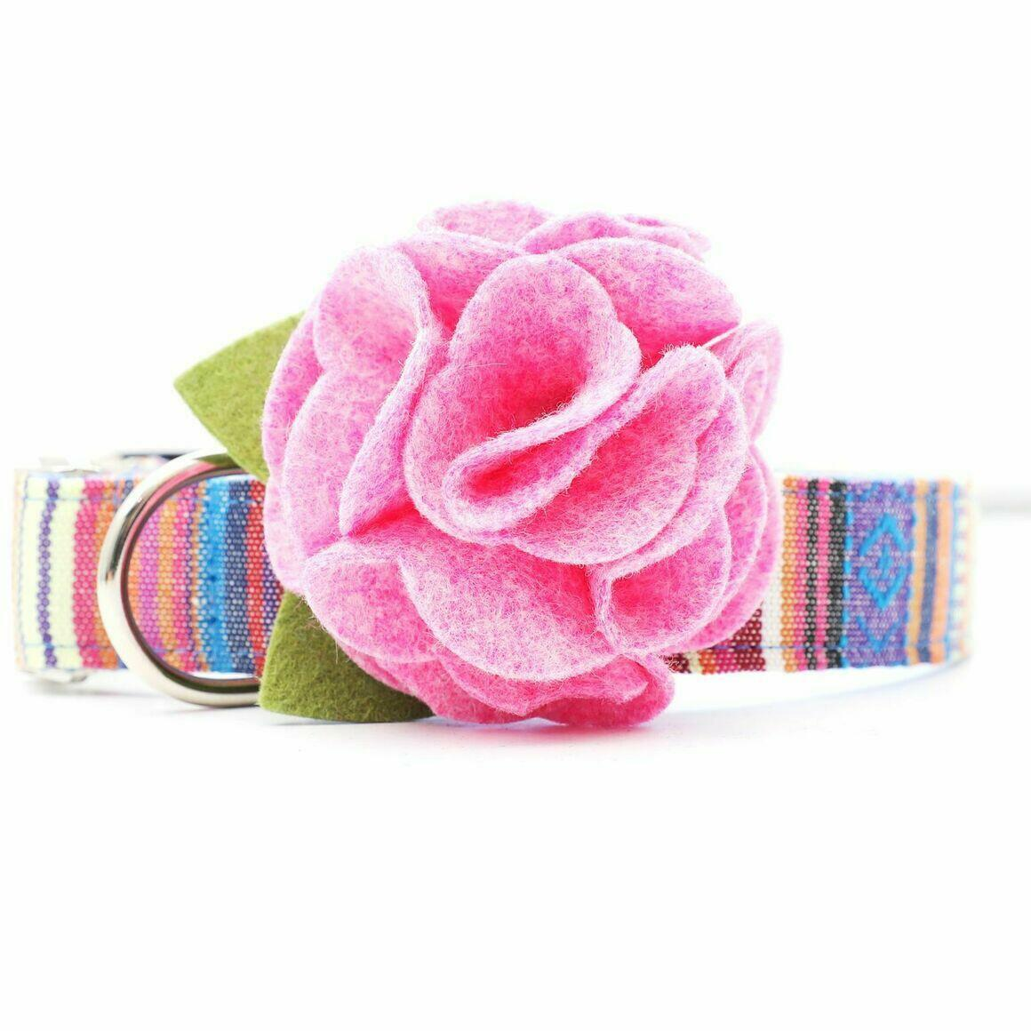 Dog Collar Hydrangea Flower - Pixie Pink   Trada Marketplace