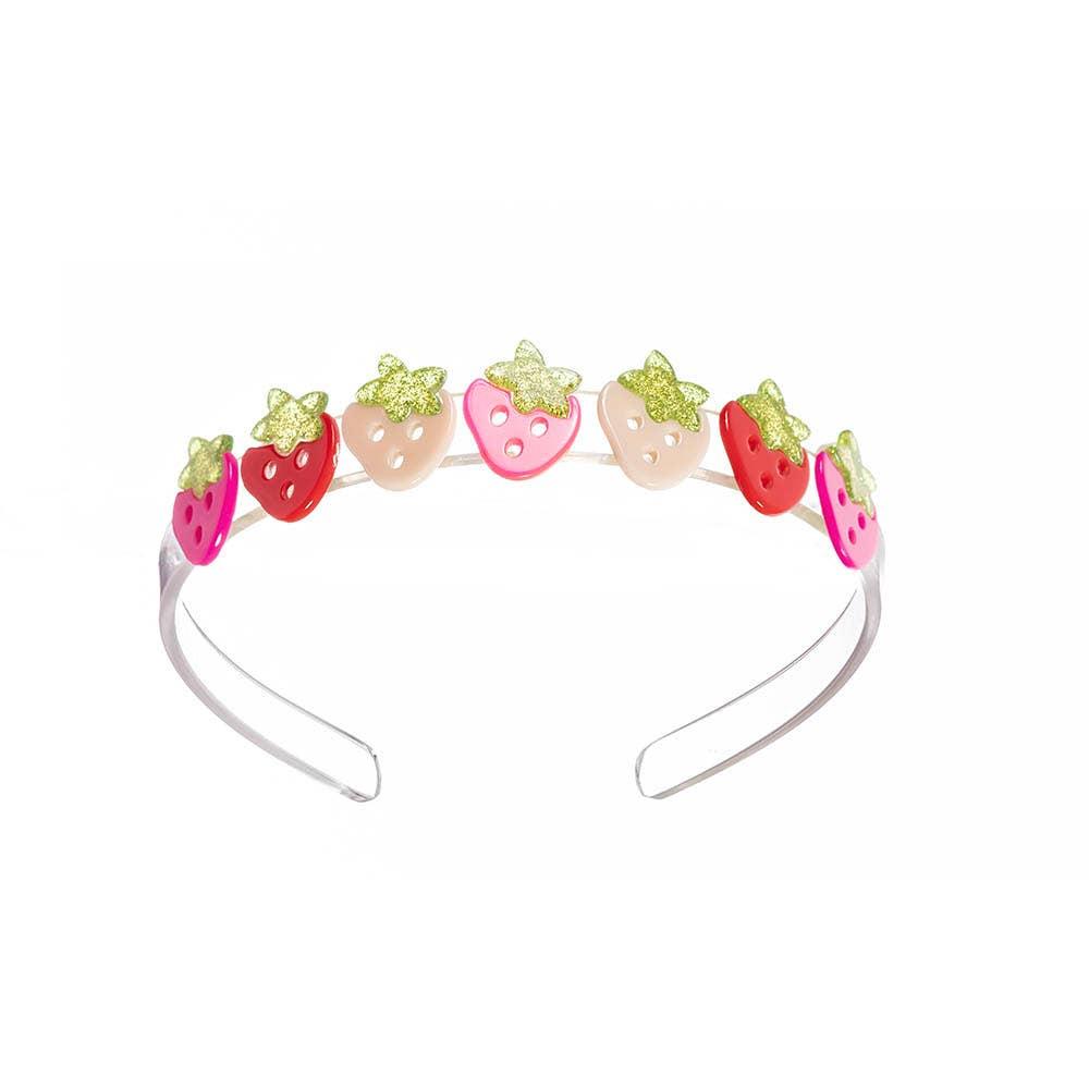Multi Strawberry Pink Red Headband - Fruit Stand   Trada Marketplace