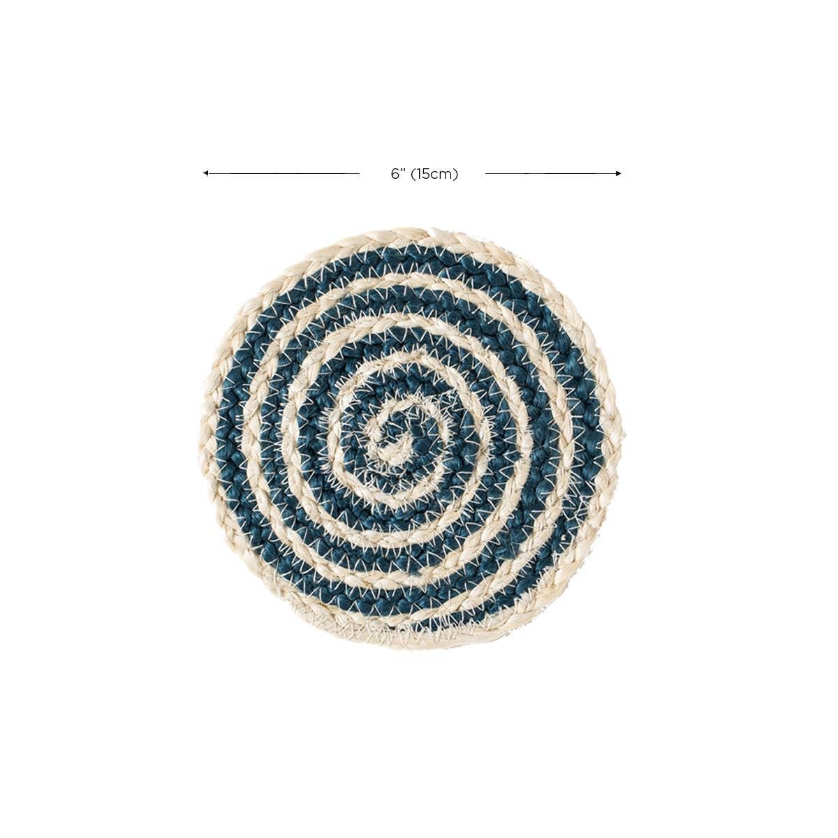 Kata Spiral Coaster - Blue (Set of 4) | Trada Marketplace