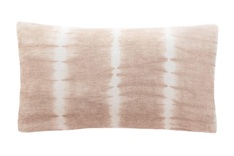 Pink Tie Dye Linen Pillow   Trada Marketplace