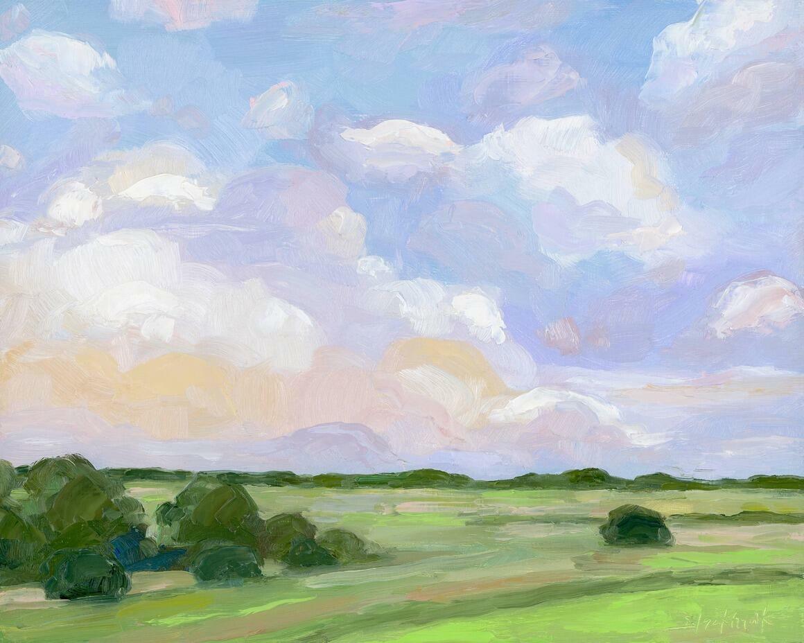 Lavender Sky Horizontal Canvas Print   Trada Marketplace