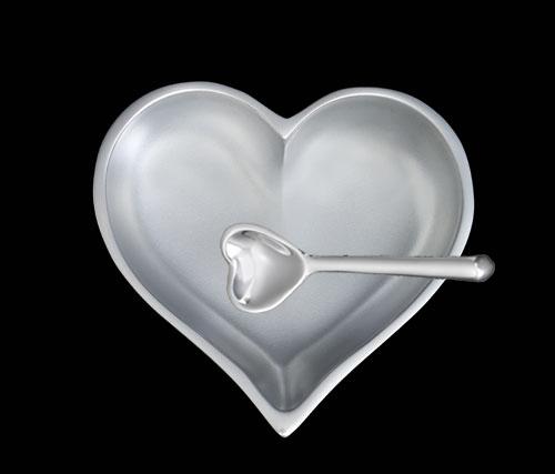 April Diamond Birthstone Heart with Heart Spoon   Trada Marketplace