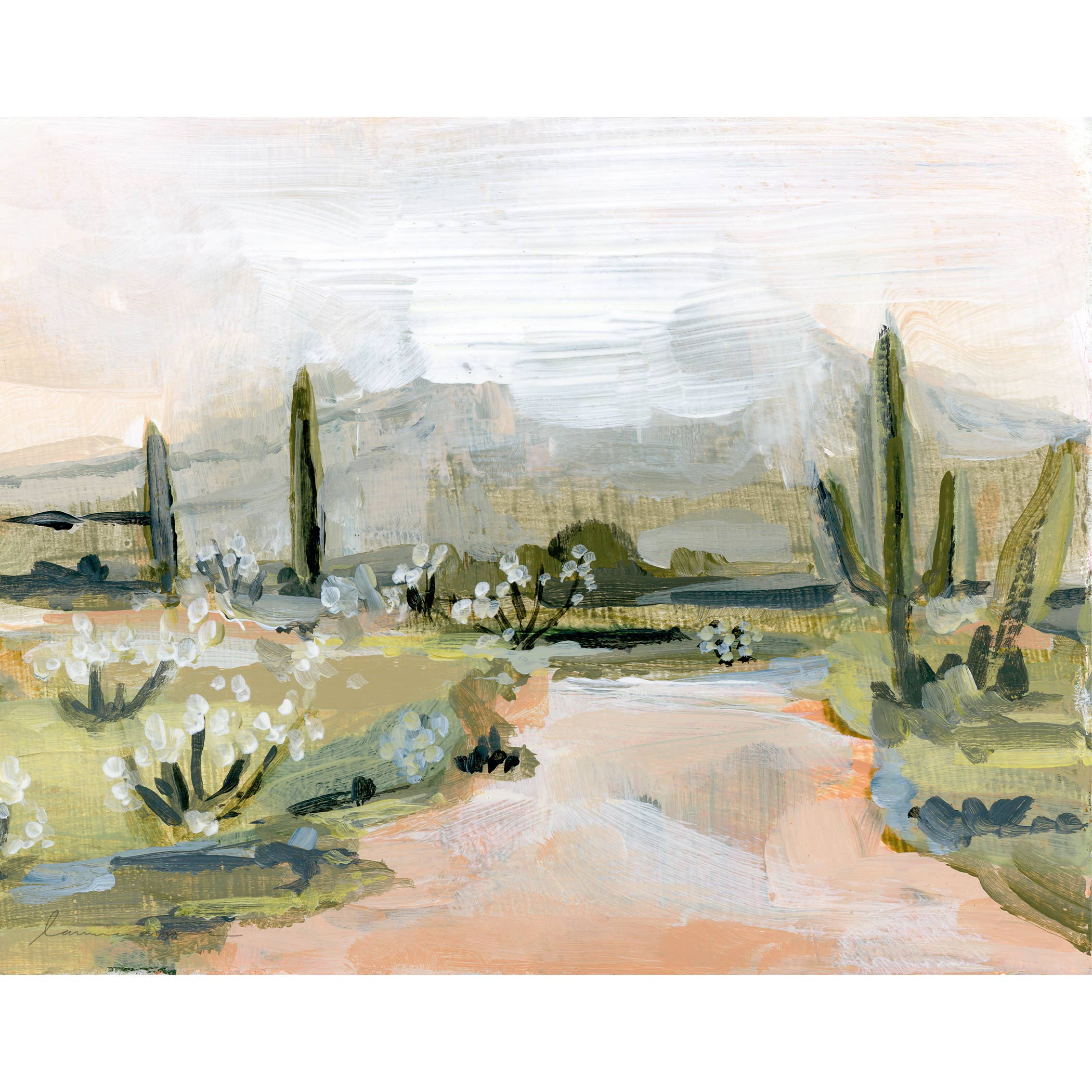 Desert Rain Horizontal Canvas Print   Trada Marketplace