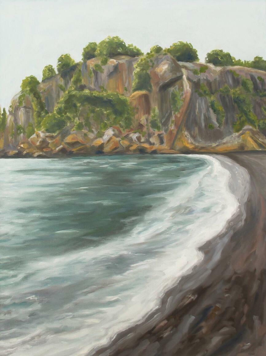 Rocky Beach Vertical Canvas Print   Trada Marketplace