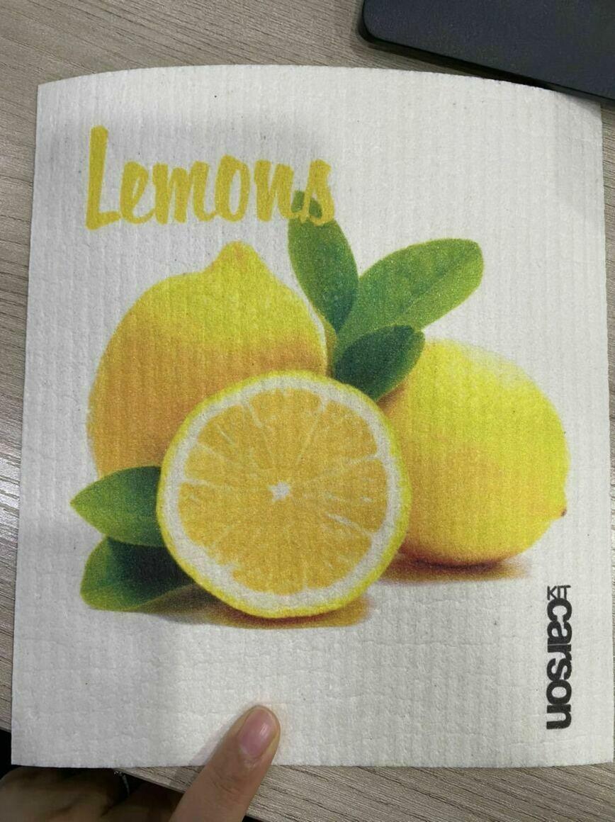 Lemons Cut in Half Swedish Dishcloth   Trada Marketplace
